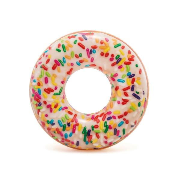 Intex Donut Reifen Schwimmring Lounge Luftmatratze 107 x 99 cm-dunkel