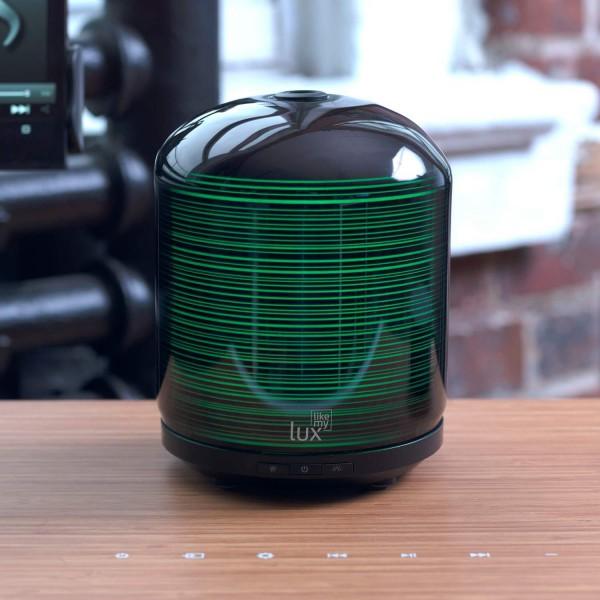 Aroma Diffuser Likemylux 200ml Luftbefeuchter Ultraschall Modern Style Schwarz