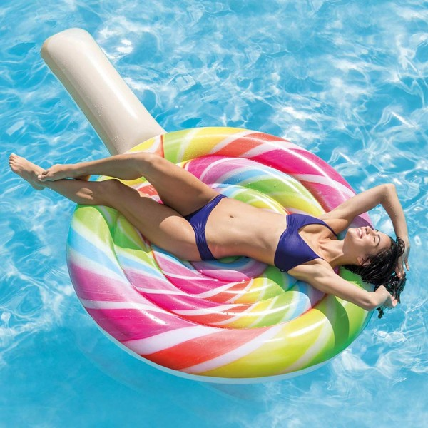 Intex Luftmatratze Lollipop Wasserliege Matratze Pool 208x135 cm Badeinsel 58753