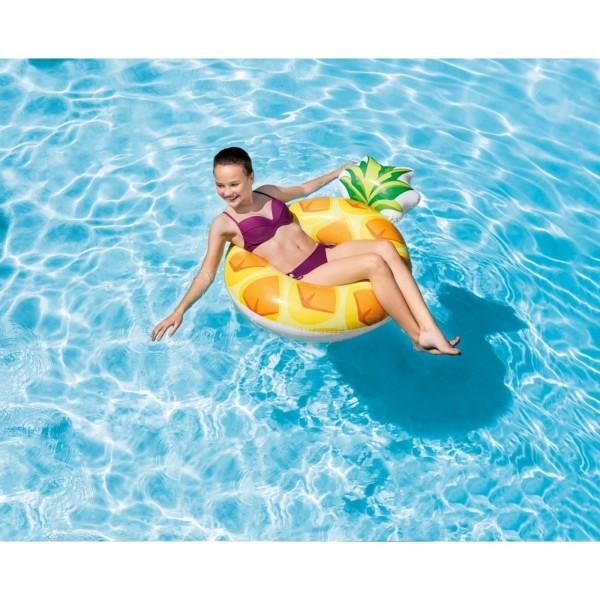 Intex Ananas Schwimmreifen aufblasbar Lounge Luftmatratze 56266