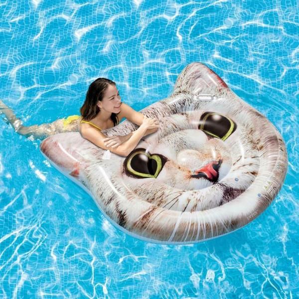 Intex Luftmatratze Katze Badeinsel Wasserliege Spaß 147x135 cm aufblasbar 58784