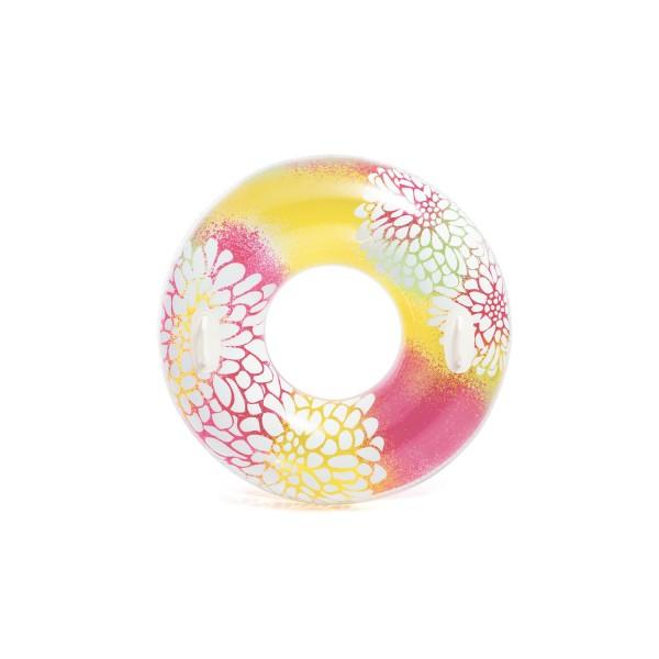Intex 58263NP - Schwimmreifen Transparent Tube, Durchmesser 97 cm (farblich sortiert)
