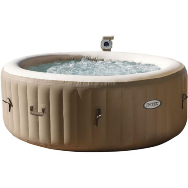 "Intex 28404 Whirlpool Pure SPA 77"" Bubble Massage, Braun, Ø 196 x 71cm"