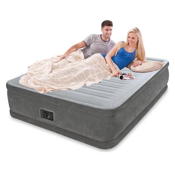Intex Luftbett Comfort mit Pumpe 230V selbstaufblasend Luftmatratze Güstebett