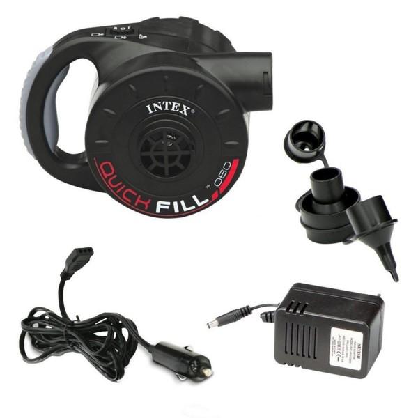 Intex 66622 Elektrische Luftpumpe Pumpe aufladbar für Luftbett Badeinsel Adapter