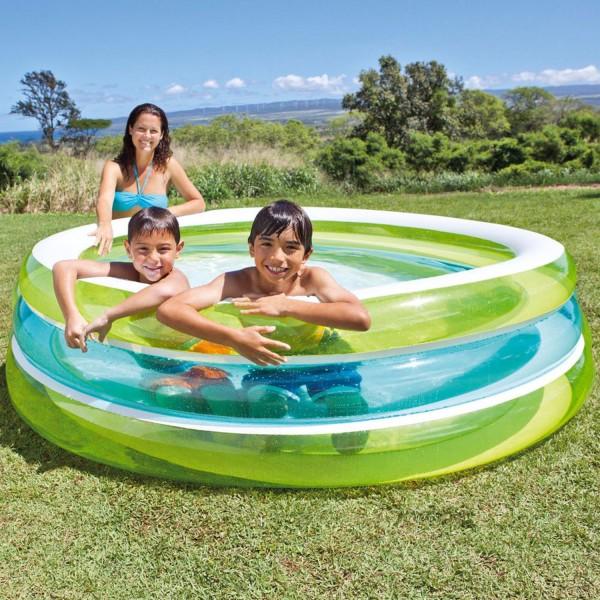 INTEX Swim Center 203x51cm See Trough Swimming Pool Planschbecken 57489