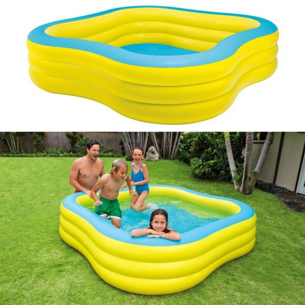 Intex Planschbecken Swimming Pool Kinderpool Swim Center 229x229x56cm 57495