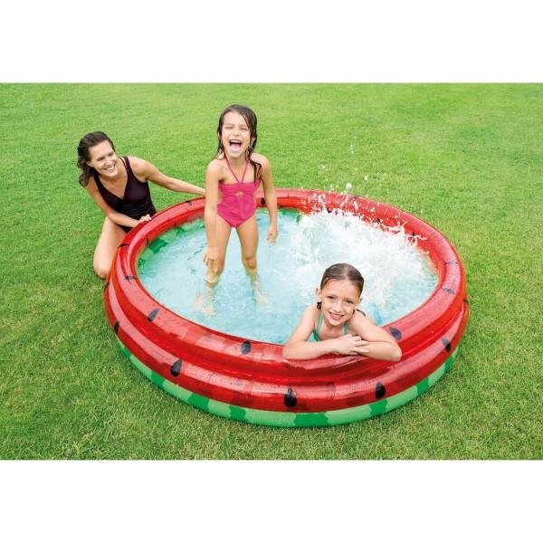 Intex Planschbecken Wassermelone aufblasbarer Babypool Kinderpool 168x38cm 58448