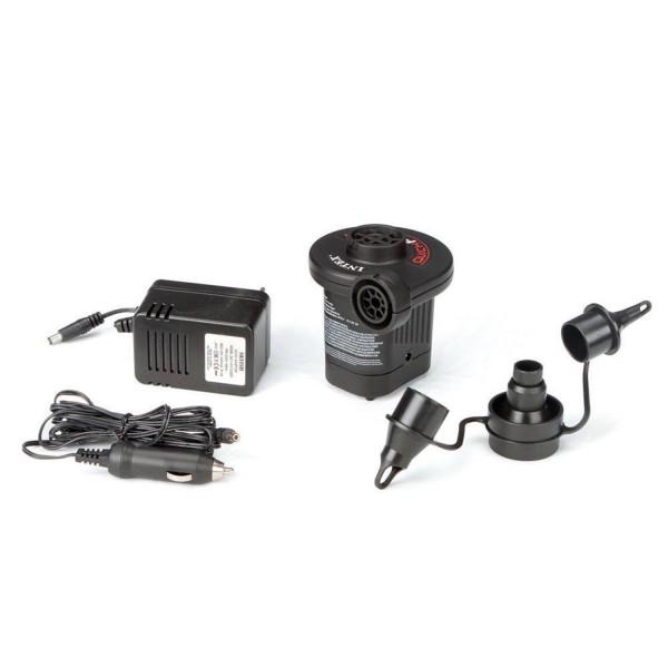 Intex 66632 Elektrische Luftpumpe für Matratze Luftbett 230V+12V und 3 Adapter