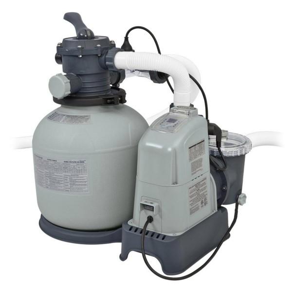 Intex 28676 Sandfilteranlage 5,7m³ Salzwassersystem Sandfilterpumpe Pool Pumpe