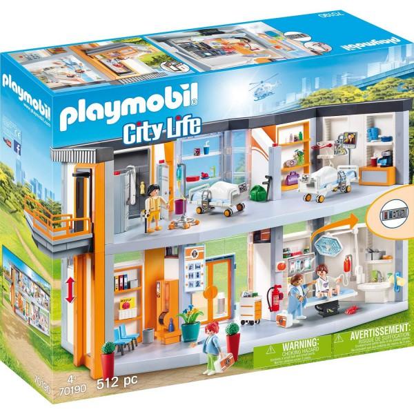 Playmobil City Life 70190 Großes Krankenhaus mit Einrichtung