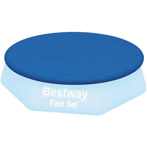 Bestway 58033 Abdeckplane für Fast Set Pool Ø305cm Poolabdeckung Poolplane