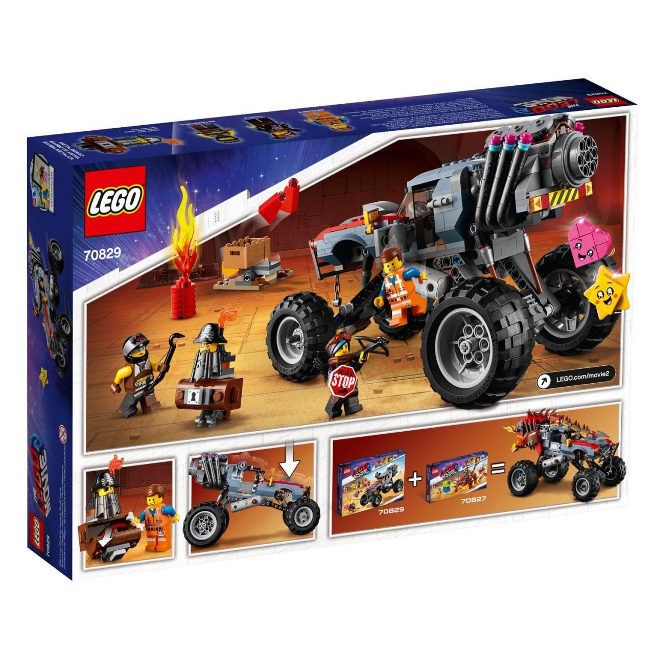 THE LEGO MOVIE 2 70829 Emmets und Lucys Flucht-Buggy!