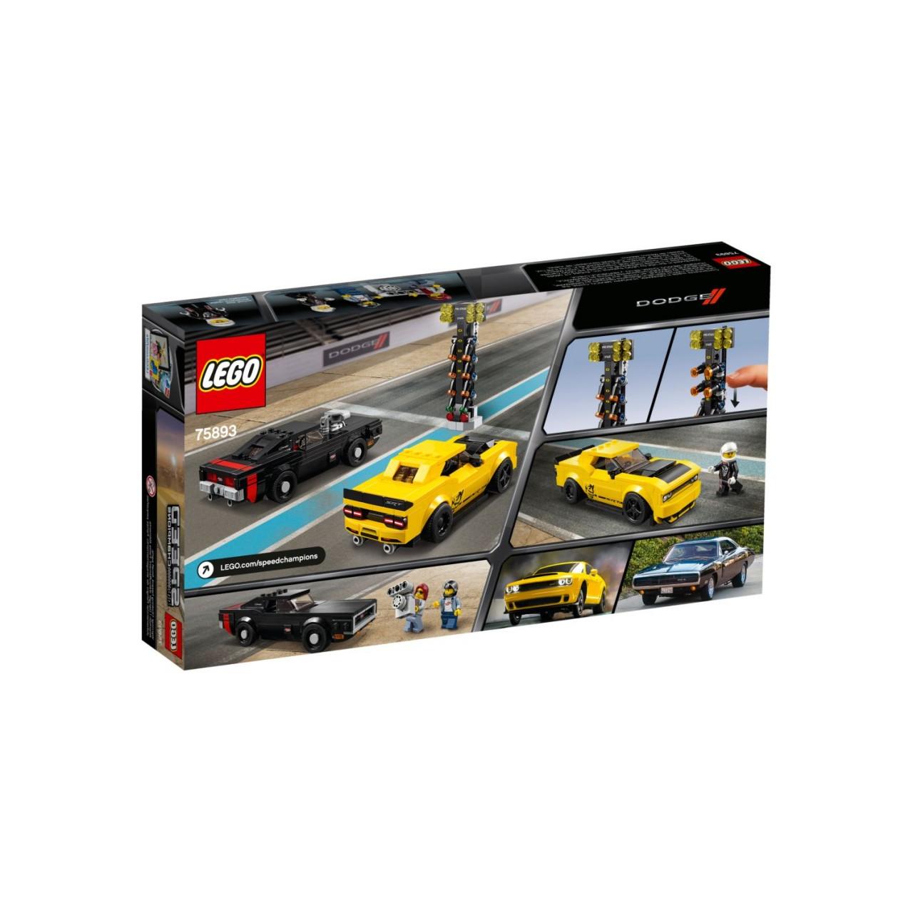 LEGO SPEED CHAMPIONS 75893 Dodge Challenger SRT Demon und 1970 Dodge Charger R/T