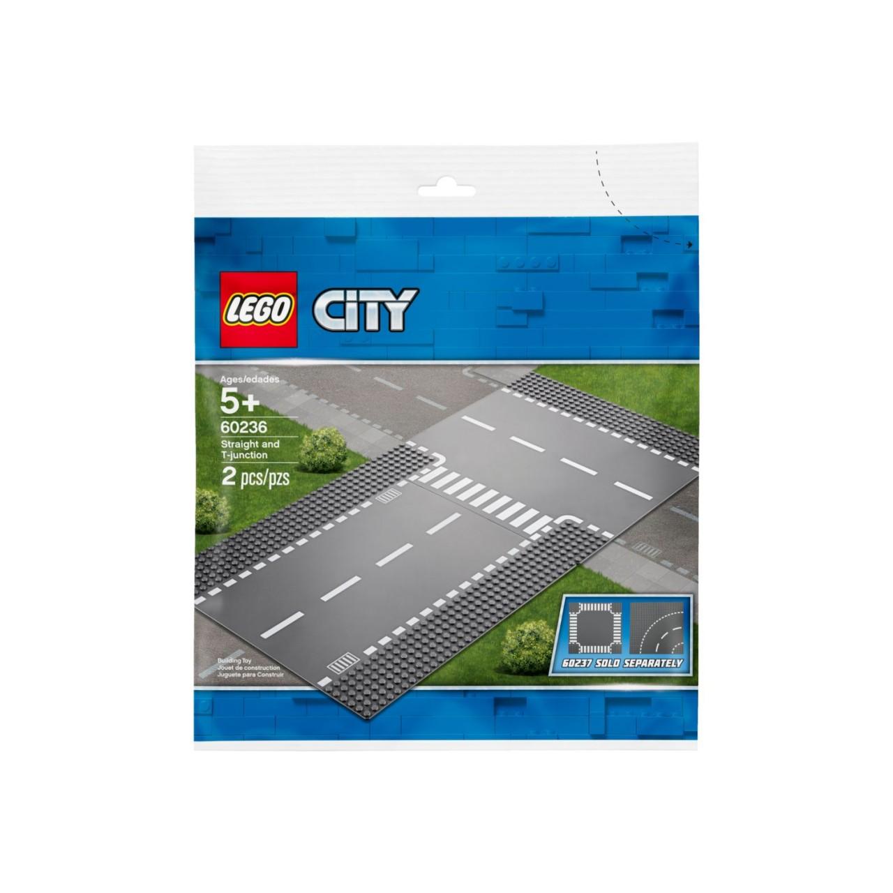 LEGO CITY 60236 Gerade und T-Kreuzung