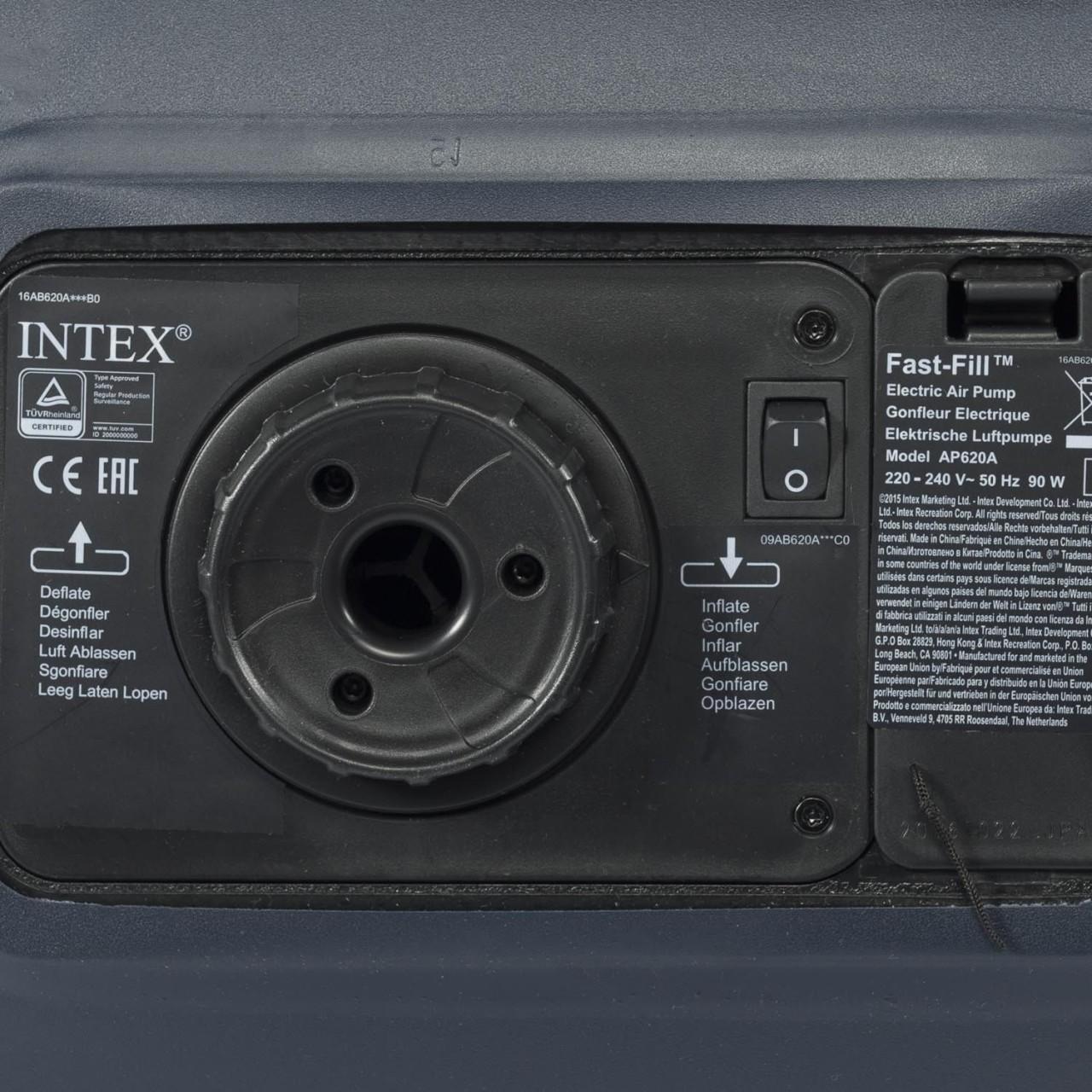 Intex Luftbett Gästebett Luftmatratze 152x203x42 cm inkl. Pumpe selbsaufblasend
