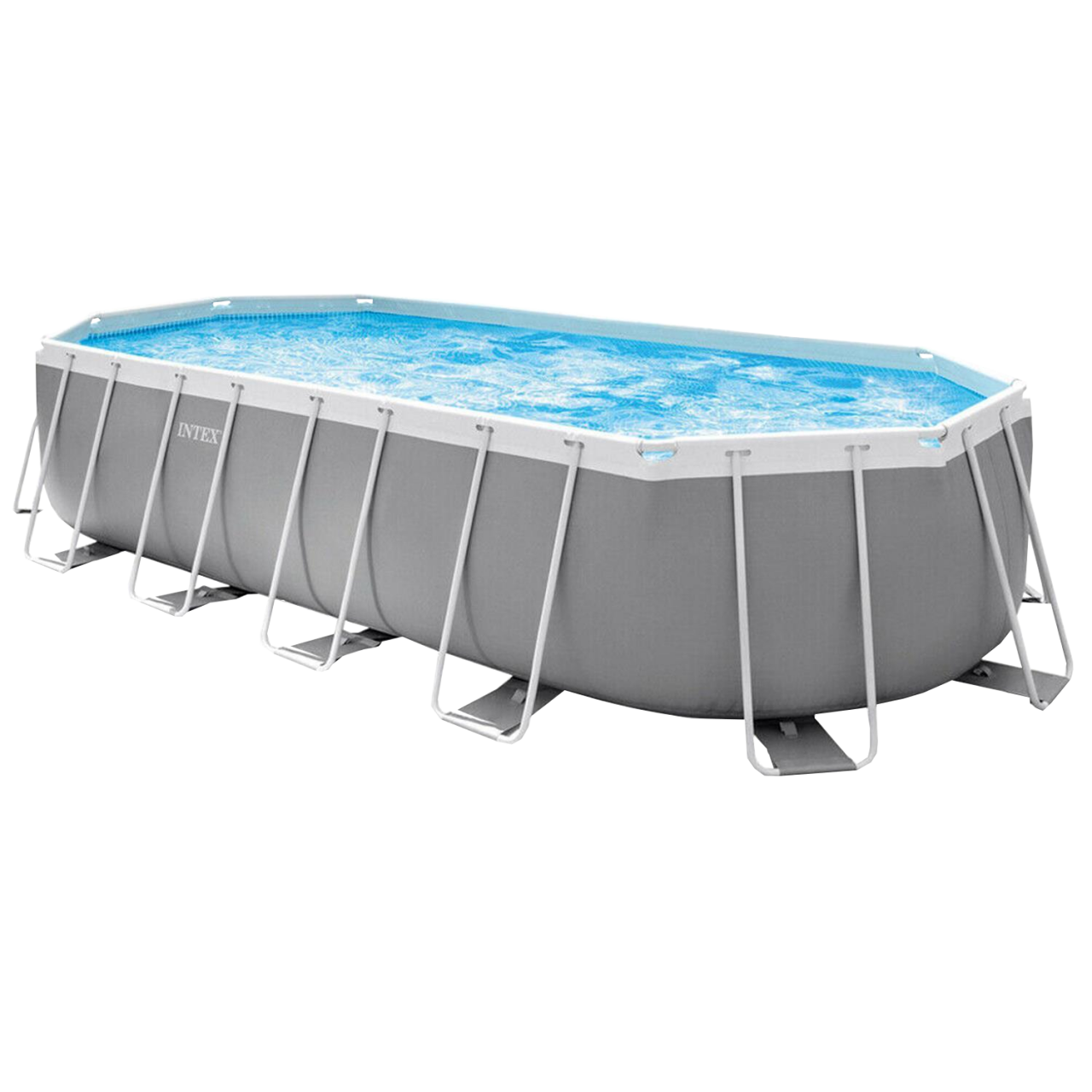Intex Prism Frame Oval Pool Swimming Pool 610x305x122 cm Schwimmbad Filterpumpe