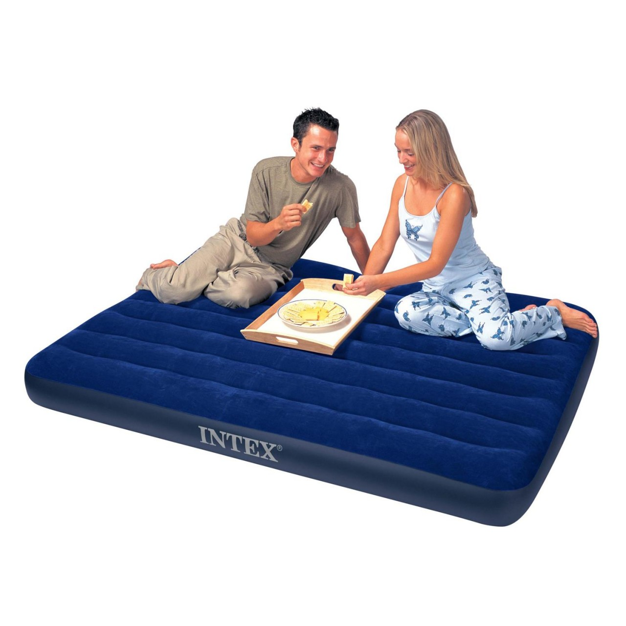 Intex Luftbett Gästebett Luftmatratze Camping 137 x 191 x 22 cm aufblasbar 68758
