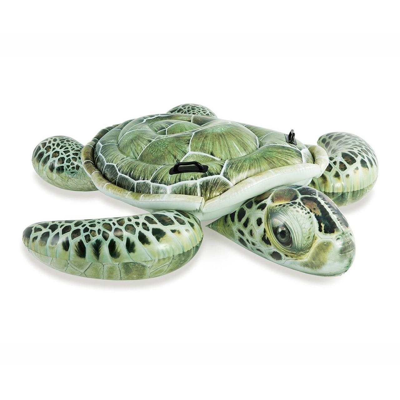 Intex Schwimmtier Schildkröte Luftmatratze 190 x170cm Reittier aufblasbar 57555