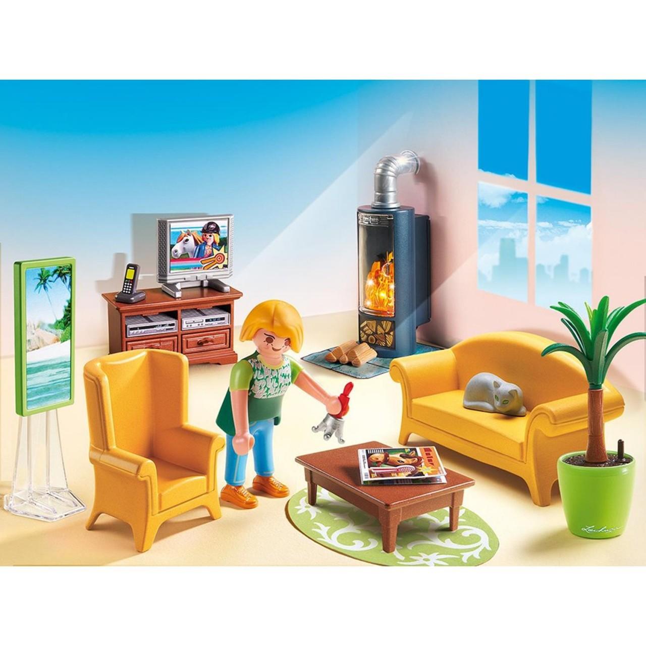 Playmobil 5308 Wohnzimmer mit Kaminofen