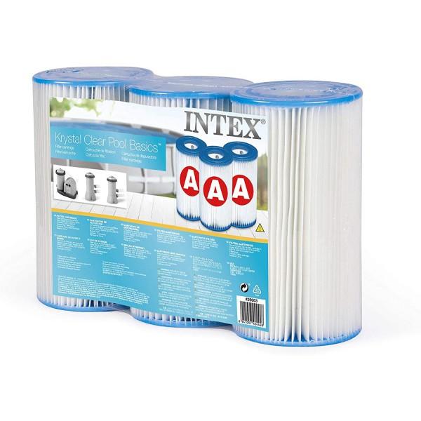 Intex 3x Filterkartuschen 29000 Pool Ersatzfilter Typ A  10,8cm x20,2cm Ø 5cm