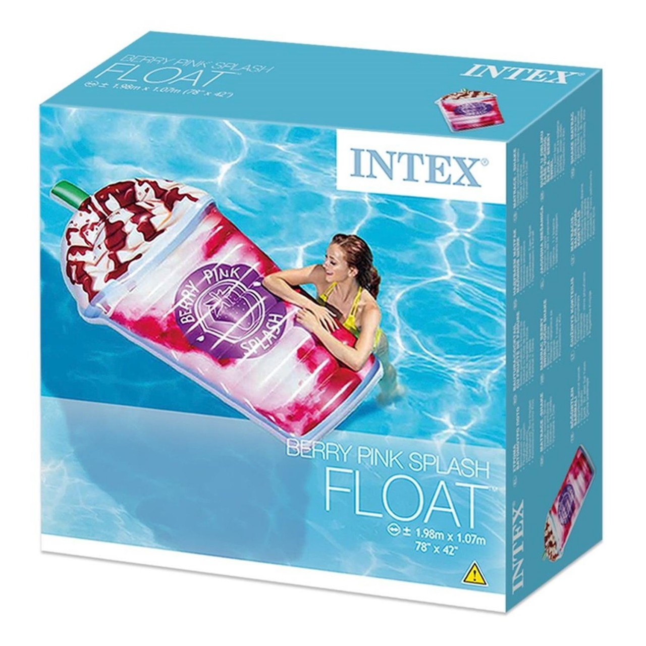 Intex Milkshake Berrypink Splash Luftmatratze Lounge 198x107cm 58777 aufblasbar