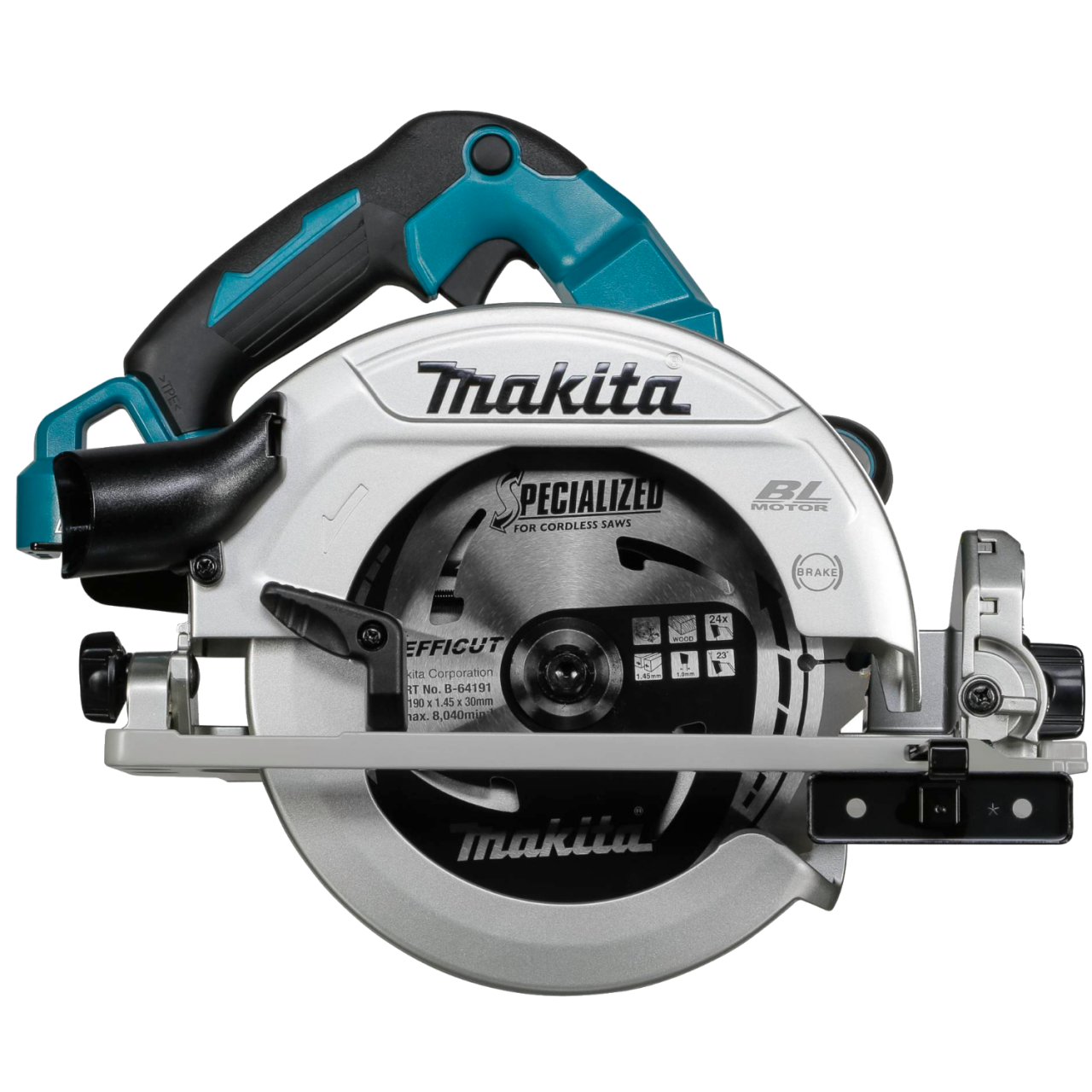 Makita DHS782ZJ Akku-Handkreissäge im MAKPAC Gr. 4 inkl. Einlage, 2x18V, 62,5 mm, 6.000 min-1