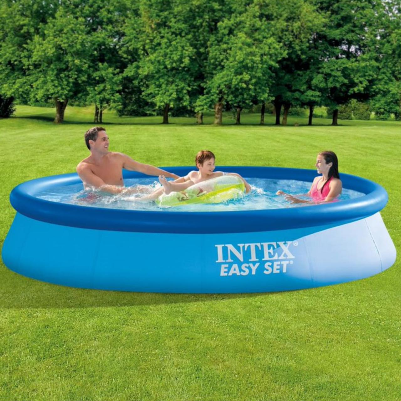 Intex Easy Set Pool 366 x 76 cm Schwimmbecken Schwimmbad mit Filterpumpe 28132