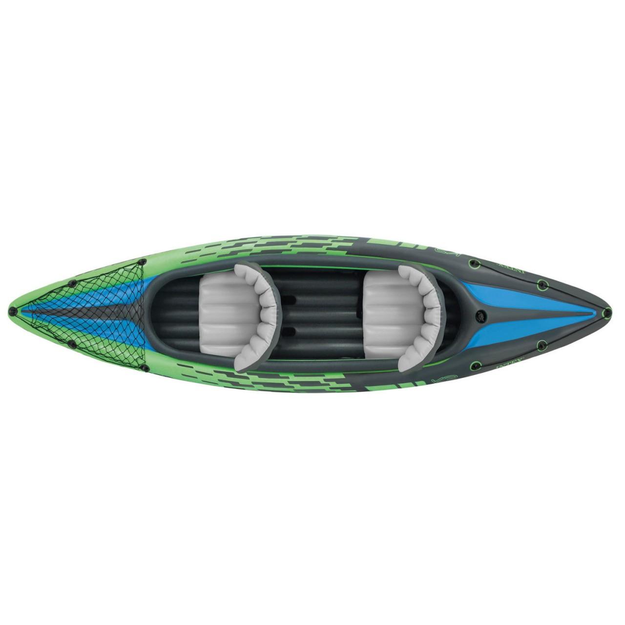 Intex 68306 Kajak Challenger K2 Set Schlauchboot Paddelboot + Alu Paddel Pumpe