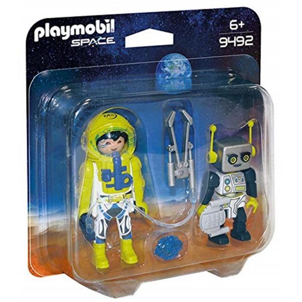 Playmobil 9492 Duo Pack Astronaut und Roboter