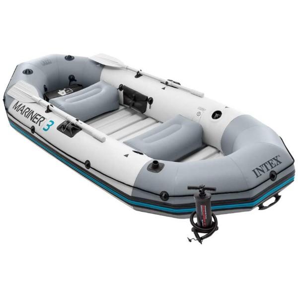 Intex 68373 Schlauchboot Angelboot Ruderboot Paddel + Pumpe Mariner 3 aufblasbar