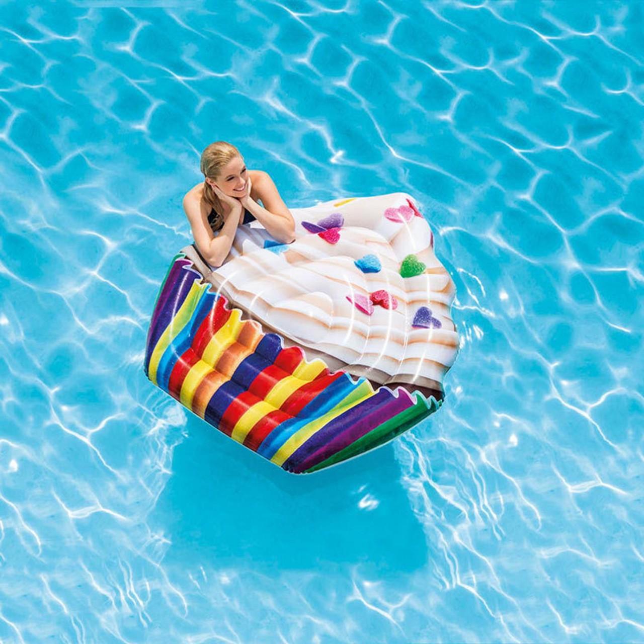 Intex Cupcake Luftmatratze Wasserliege Lounge 142cmx 135cm 58770