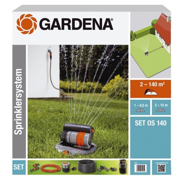 Gardena Komplett-Set OS 140 Versenk-Viereckregner Sprinklersystem 8221-20