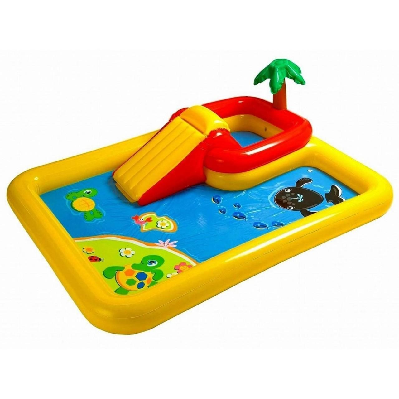 Intex 57454 Play Center Planschbecken Kinder Pool mit Rutsche aufblasbar Zubehör