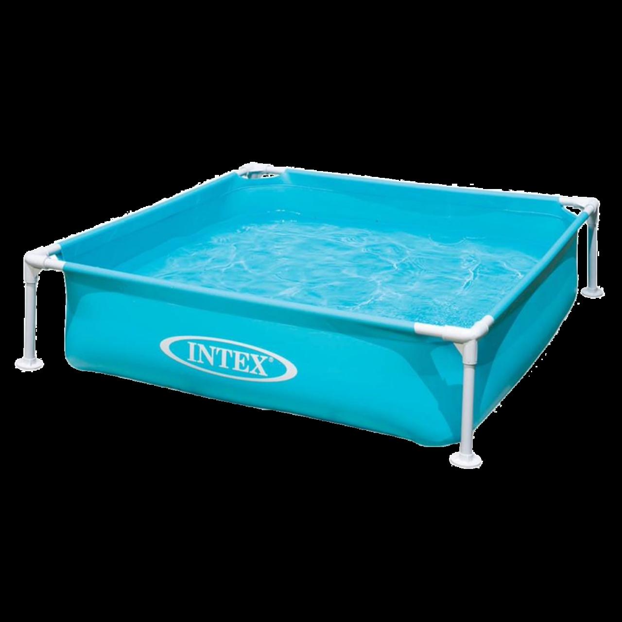 Intex 57173 Kinderpool Babypool Planschbecken Mini Frame Blau 122x122x30cm