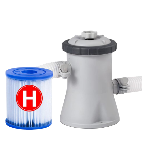 Intex 28602 Pool Filterpumpe 1250 l/h Schwimmbad Pumpe Filteranlage+1 Kartusche