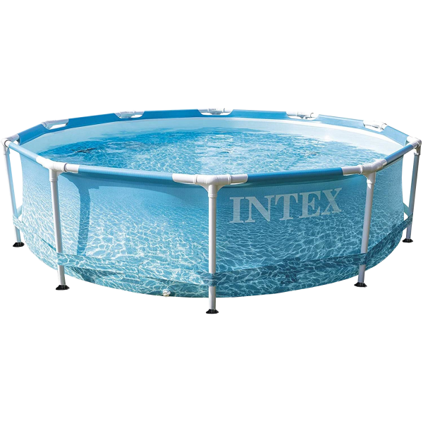 Intex 28206 Beachside Metal Frame Pool Ø305x76cm Swimming Pool Rundpool Family