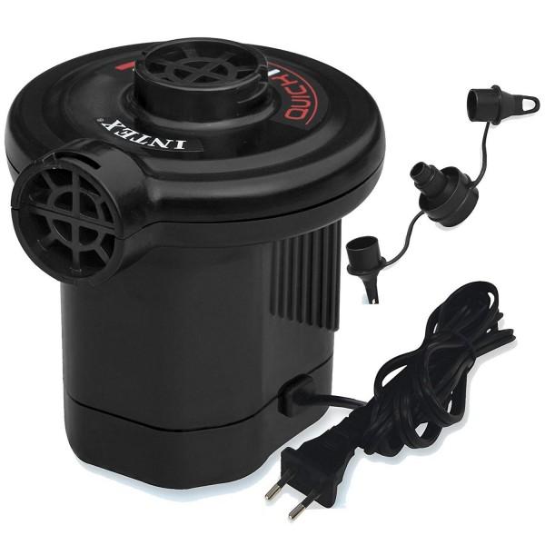 Intex 66620 Elektrische Luftpumpe 230V Luftbett Schlauchboot Pumpe + 3 Adapter