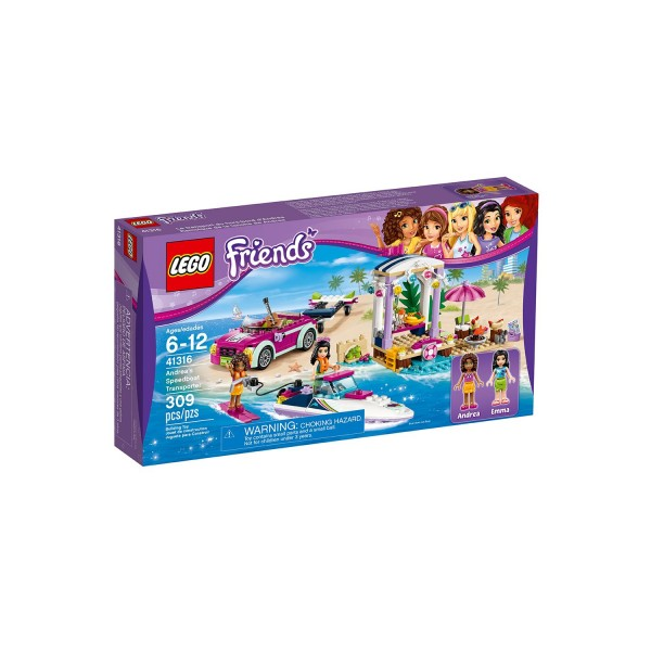 LEGO FRIENDS 41316 Andreas Rennboot-Transporter