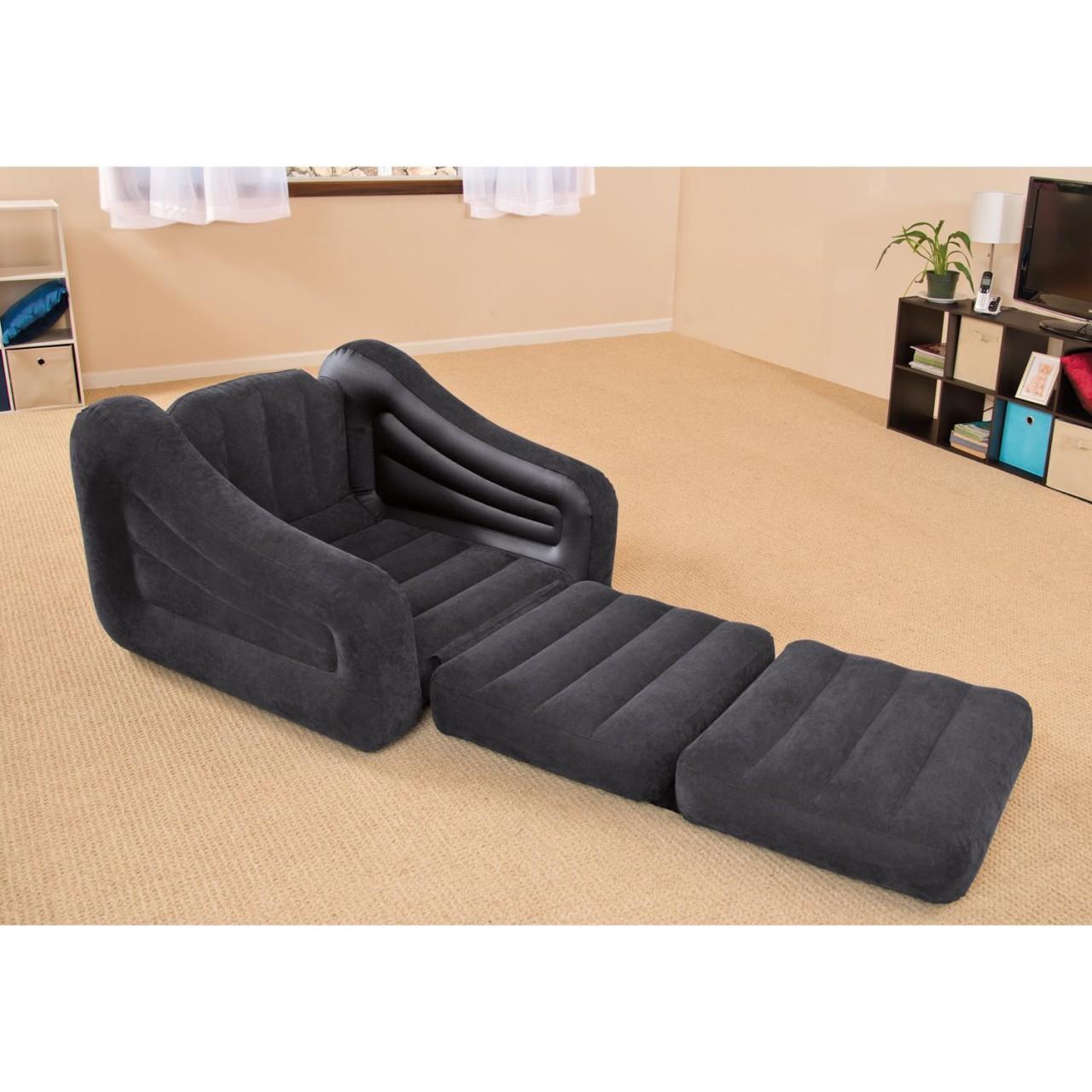 Intex Sessel Sofa Couch Luftbett Gästebett Schlafsofa ausziehbar 107x221x66 cm