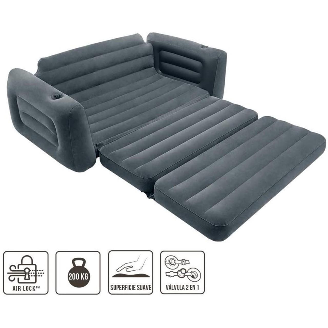 Intex Sofa Couch Lounge Luftsofa Luftbett Gästebett aufblasbar 203x224x66 cm 66552