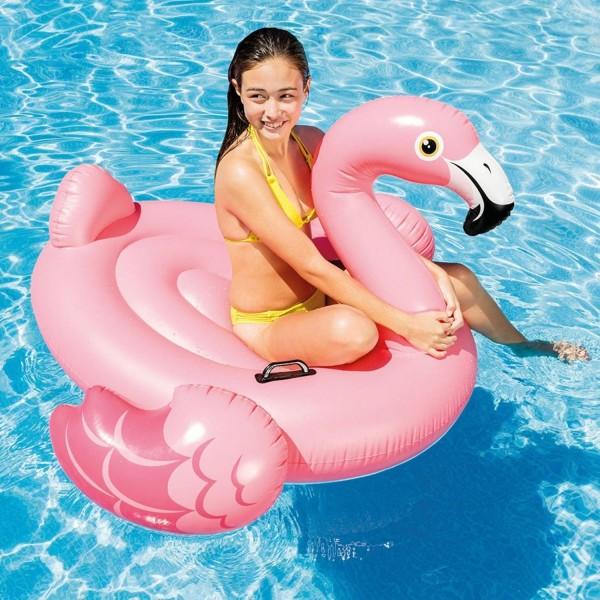 Intex 57558NP Reittier Flamingo Spielzeug, 142 x 137 x 97 cm