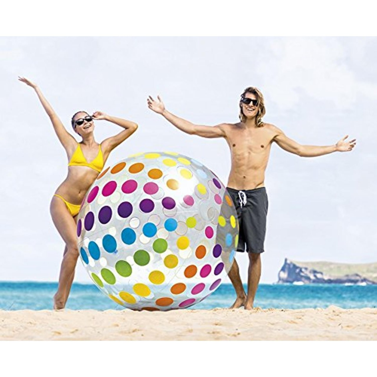 Intex Ball Groß Riesen Strandball gepunktet 183 cm 58097