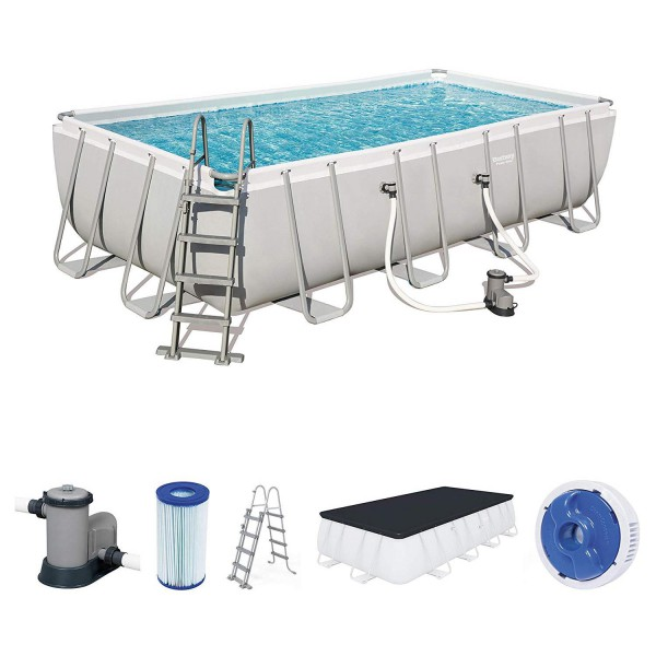 Bestway 56465 Frame Pool Power Steel 549x274x122 Pumpe Leiter Abdeckplane