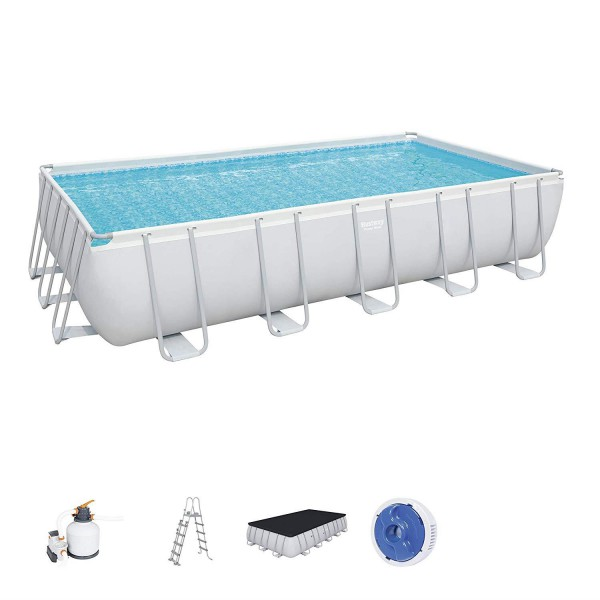 Bestway 56471 Power Steel Rectangular Pool Set 671x366x132 cm