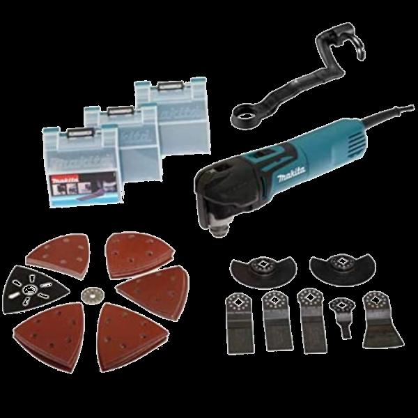 Makita TM3010CX3J Multifunktionswerkzeug 320W, Zubehör 39-teiliges Set im MAKPAC Gr. 2 inkl. Einlage