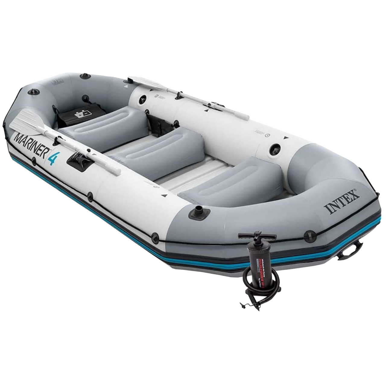 Intex 68376 Schlauchboot Angelboot Ruderboot Paddel + Pumpe Mariner 4 aufblasbar