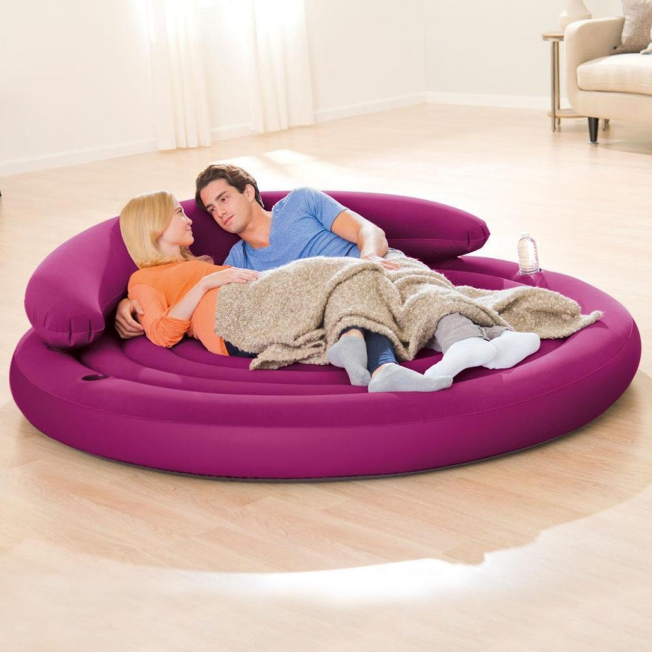 Intex 68881 Luftbett Gästebett Ultra Lounge Sofa Rund Aufblasbar 191x53 cm