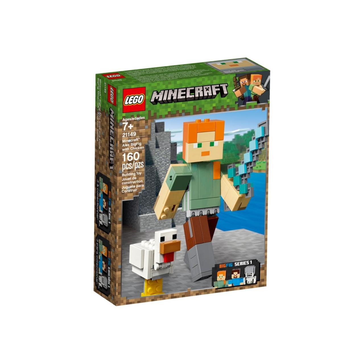 LEGO MINECRAFT 21149 Minecraft-BigFig Alex mit Huhn