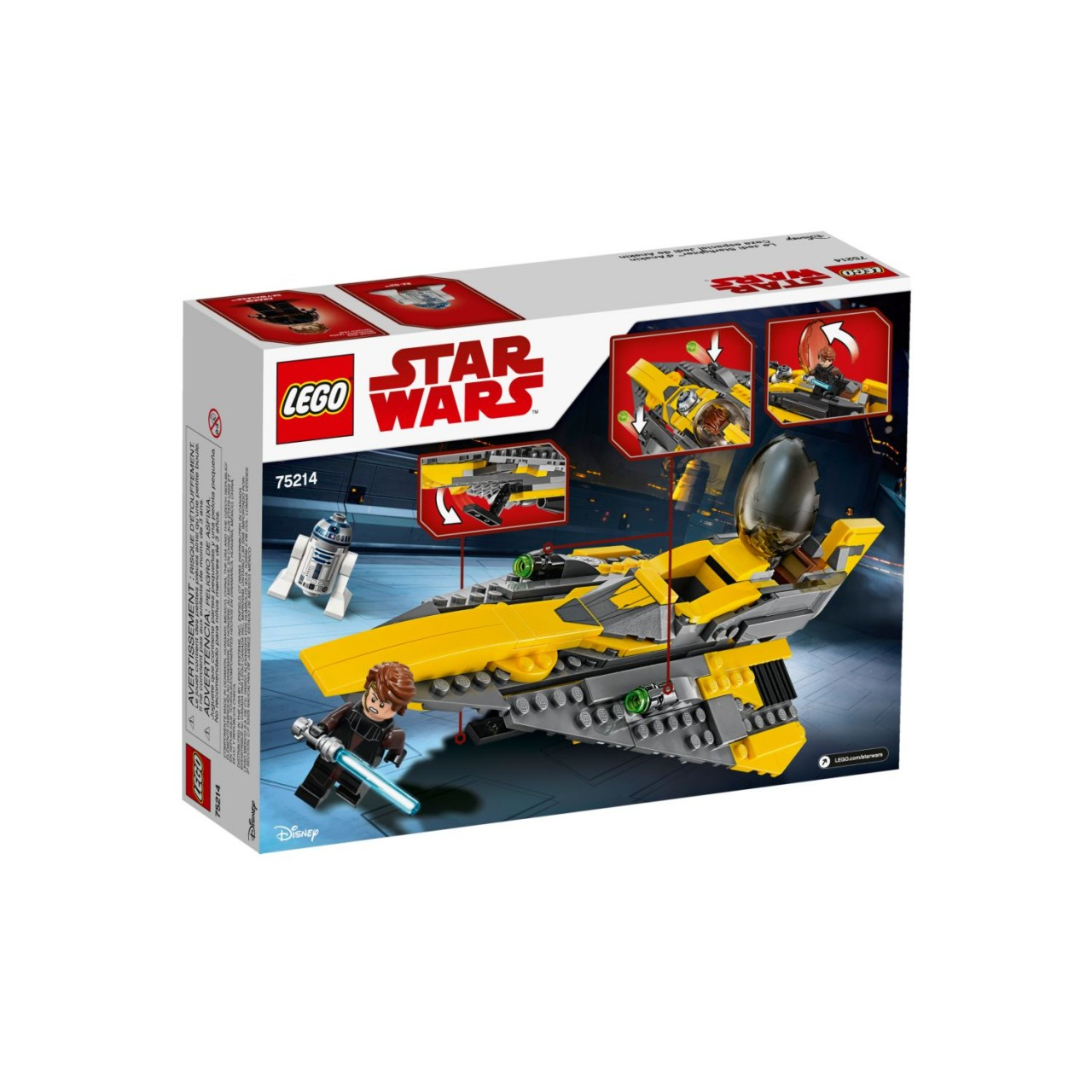 LEGO STAR WARS 75214 Anakin's Jedi Starfighter